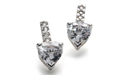 Betty Grable Jewelry : Diamond Heart Earrings