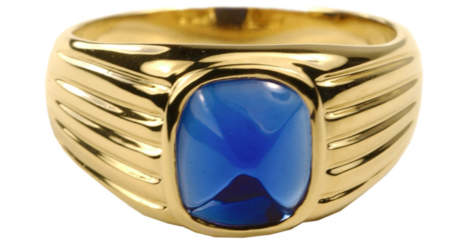 Clark Gable Jewelry : Sapphire Pyramid Ring