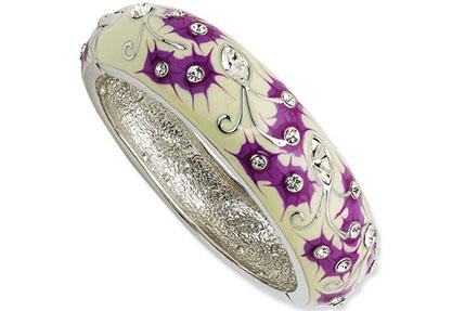 Jacqueline Kennedy Jewelry : Enameled Floral Bangle Bracelet