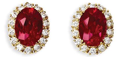 Jacqueline Kennedy Jewelry : Ruby and Diamond Earrings