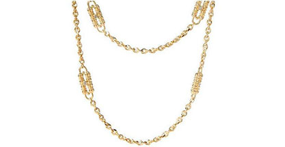 Jacqueline Kennedy Jewelry : Dual Chain and Station Necklace