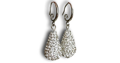 Kate Middleton Jewelry : Hope Egg Pave Crystal Engagement Earring