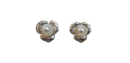 Kate Middleton Jewelry : Pearl Flower Earring